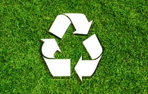 Recycling Logo on Grass